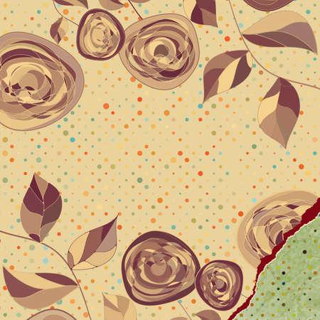 Retro flower background  EPS 8 Vector