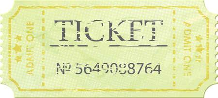Ticket admit one vintage one