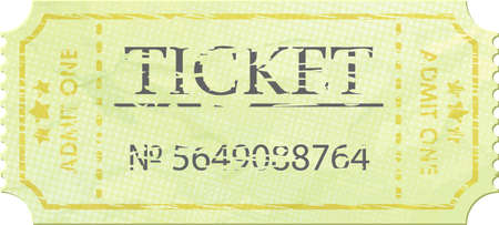 Ticket admit one vintage one  Vector