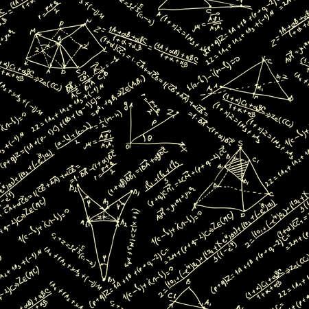mathematical proof: Maths seamless pattern  EPS 8