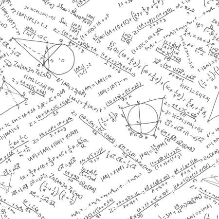 Maths seamless pattern  EPS 8