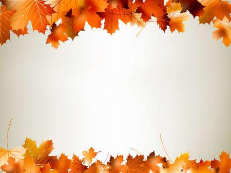 hojas secas: Hojas de colores de oto�o cayendo y girando. Y tambi�n incluye EPS 10 vector