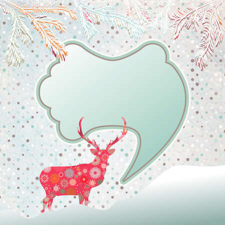 Christmas background with abstract reindeer. And also includes EPS 8 vector photo