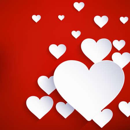 saint valentin coeur: Coeur de fond Saint Valentin. Et comprend �galement EPS 10 vecteur Banque d'images