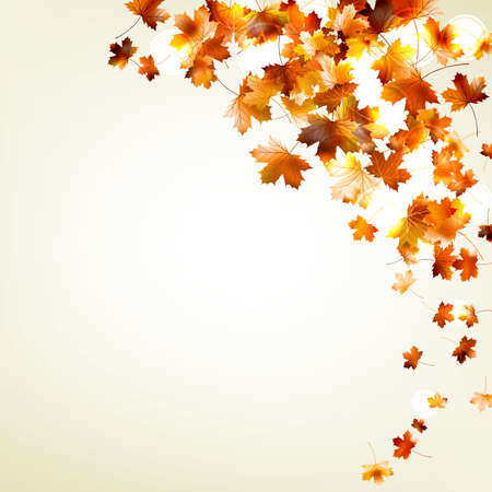Autumn falling leaves background. And also includes EPS 10 vector