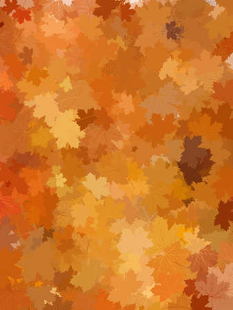 Autumn background with leaves. And also includes EPS 10 vector photo
