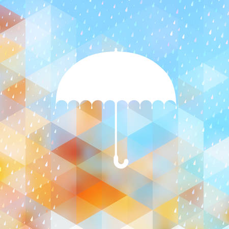 rainbow umbrella: Abstract background with rain pattern and umbrella symbol. And also includes EPS 10 vector