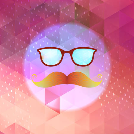 reflection of life: Retro glasses with reflection  EPS 10