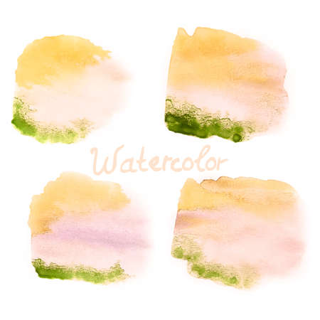 Watercolor art hand paint on white  EPS 10