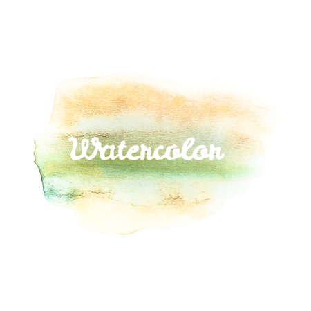 Watercolor art hand paint on white