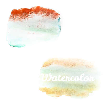 beidge: Watercolor art hand paint on white