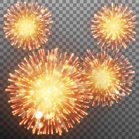 Festive firework effect. EPS 10 vector Illustration