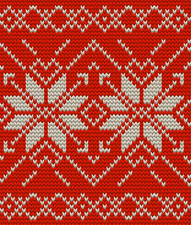 Nordic knitted perfect seamless pattern. EPS 10 vector Illustration