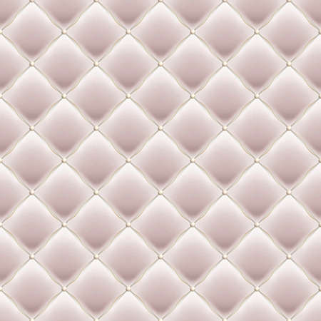 Decorative Upholstery Soft Gloss seamless Quilted Pattern. True Luxury Template with Gold Thread. Illustration