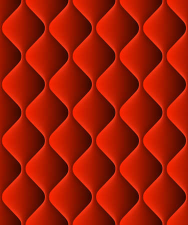 shaped: Red padded upholstery seamless pattern texture. And also includes EPS 10 vector