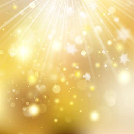 Christmas golden holiday glowing backdrop.  Vector illustration. Illustration