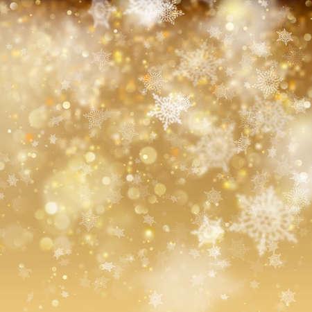 Christmas golden holiday glowing backdrop. EPS 10 vector