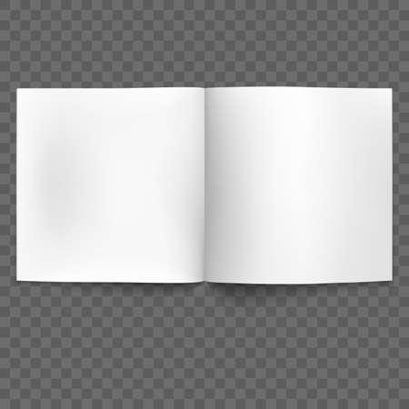 Blank open magazine isolated illustration.