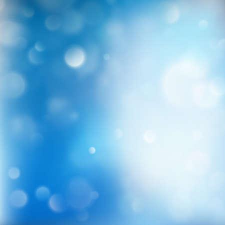 Winter xmas Christmas theme. Blue glitter bokeh background. EPS 10 vector
