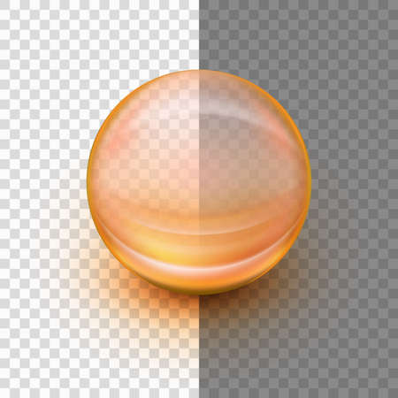 Transparent soft gel. Illustration