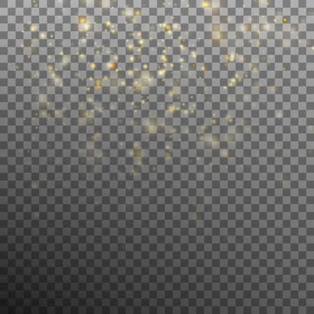 Abstract gold bokeh background. EPS 10 vector