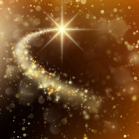 Spiral trail with bokeh effect shooting star christmas background. And also includes EPS 10 vector Illustration