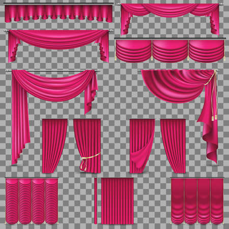 Luxury set of golden velvet silk curtains