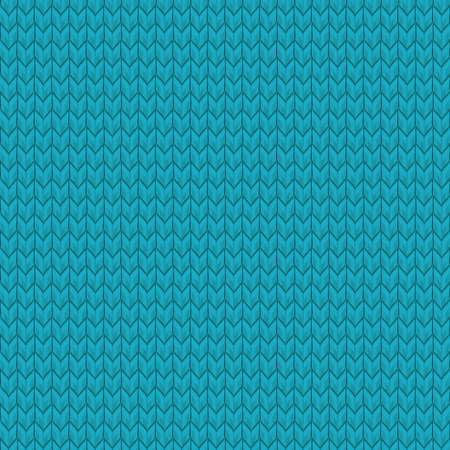 Blue realistic seamless knit pattern. And also includes EPS 10 vector Illustration