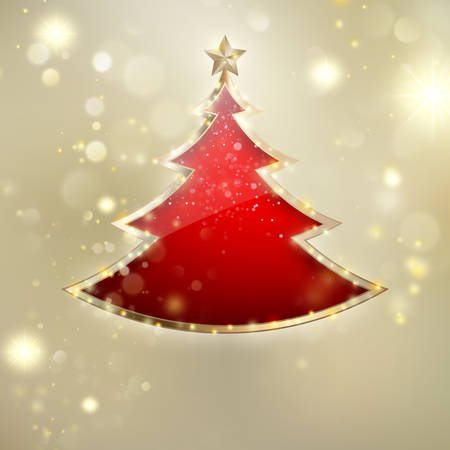 Abstract christmas tree background.
