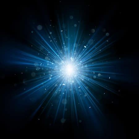 Blue light burst effect. EPS 10 vector