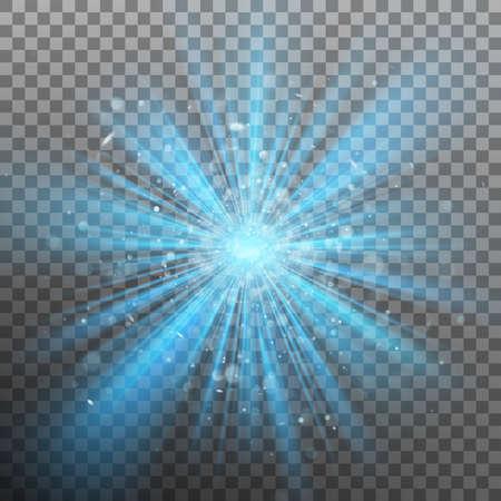 Blue burst color forces light. EPS 10 vector  イラスト・ベクター素材