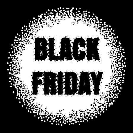 Black friday sale banner. EPS 10 vector Illustration