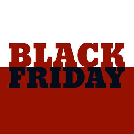 Black Friday Sale banner, vector illustration. Illustration
