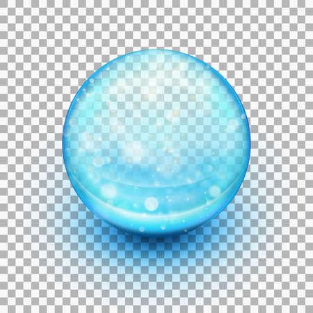 Transparent soft gel capsule. Illustration