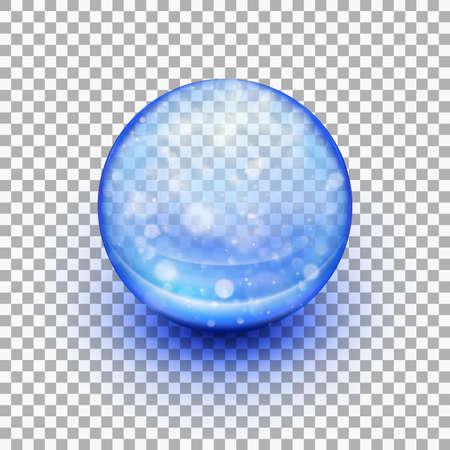 Transparent soft gel capsule. EPS 10