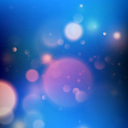 Blue bokeh abstract background. EPS 10 vector Illustration