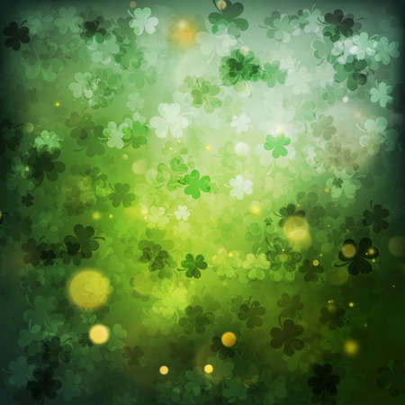 St. patrick's day abstract green background. Ilustrace