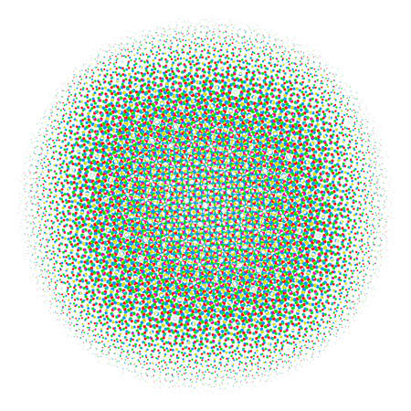 Abstract Halftone Color Circles Dot Template. EPS 10 vector Ilustração