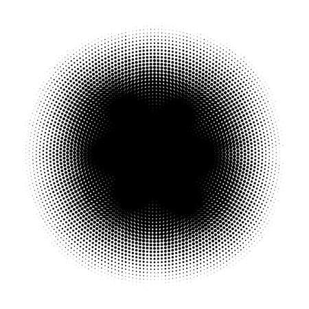 Abstract Halftone Circles Dot Template. EPS 10 vector Illustration