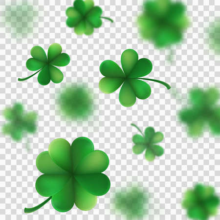 St. Patrick s Day shamrocks blur effect. And also includes eps 10 vector