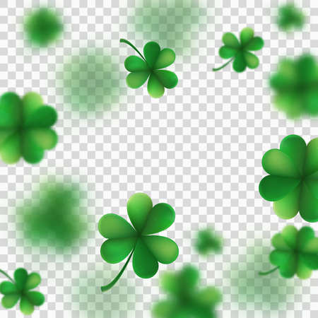 St. Patrick s Day shamrocks blur effect. And also includes EPS 10 vector Illustration