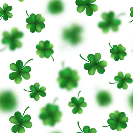 St. Patrick s Day shamrocks seamless pattern. And also includes EPS 10 vector