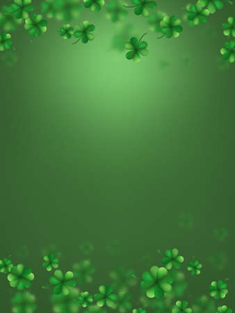 Irish Saint Patricks Day Party Poster Template. Illustration