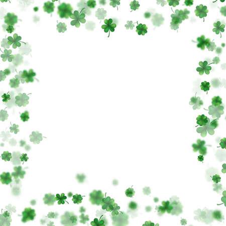 St Patrick s Day frame isolated on white background. EPS 10 vector Illustration