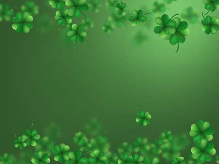 Saint Patrick's day clover frame design.