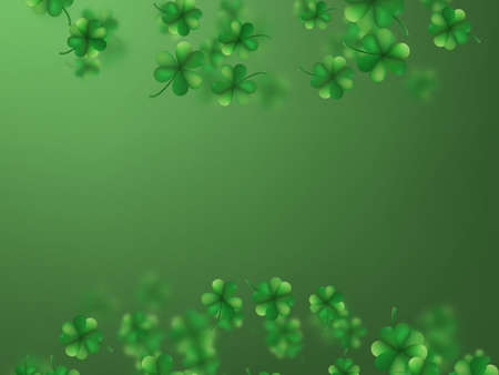 Saint patrick s day greetings card with clover shapes. EPS 10 vector