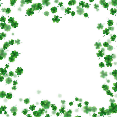 St Patrick s Day frame isolated on white background. Ireland symbol pattern. And also includes EPS 10 vector