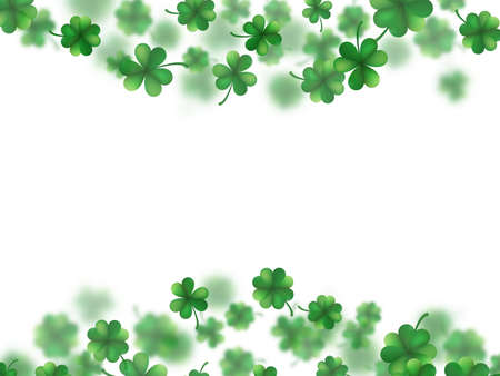Saint Patricks day frame with scattered clover leaves or shamrocks. And also includes EPS 10 vector
