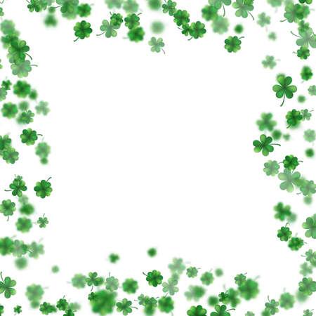 Saint Patricks day clover frame design.