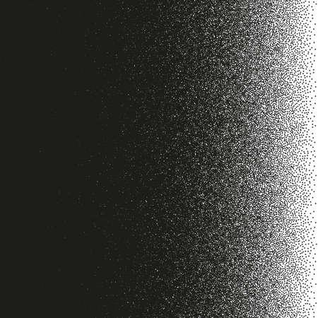 Efecto de puntillismo. Patrón de puntos irregulares. Resumen de medios tonos monocromo.
